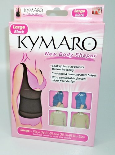 Kymaro® New Body Shaper LARGE (Fits 36 C/D and 38 A-D Bra Sizes) - BLACK