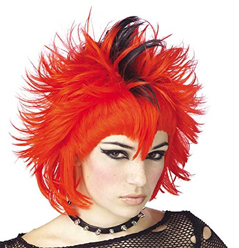 Women's Red & Black Mohawk Wig