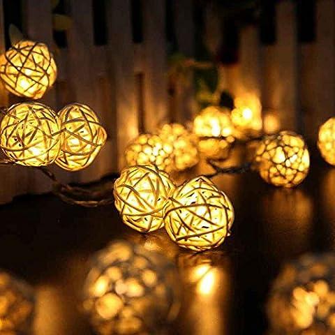 20 LED Battery Light Ball Christmas Lights Outdoor New Year Christmas Tree Light Home Ornaments Christmas Led Lamp Decoration - Elegance Ceiling Light