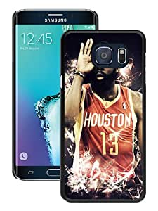 Popular Samsung Galaxy S6 Edge Plus Case ,Beautiful And Durable Designed Case With Houston Rockets James Harden 4 black Samsung Galaxy S6 Edge+ Screen Cover Custom Drsigned Phone Case