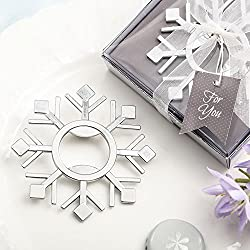 108 Snowflake Design Silver Metal Bottle Opener Wedding Favors