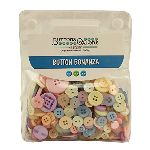 Buttons Galore 1/2 LB HAND DYED BUTTONS IN RE-CLOSEABLE PLASTIC POUCH (PASTEL) (Modeling Boys Little Garments)