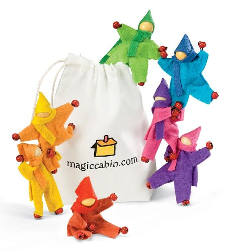 Magic Cabin Take-Along Posable Pocket Dolls, Set of 8
