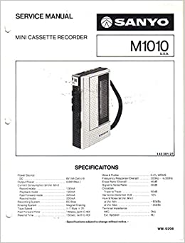Service Manual for Sanyo M1010 Mini Cette Recorder: Sanyo ... on series and parallel circuits diagrams, led circuit diagrams, troubleshooting diagrams, engine diagrams, lighting diagrams, electronic circuit diagrams, hvac diagrams, honda motorcycle repair diagrams, friendship bracelet diagrams, smart car diagrams, gmc fuse box diagrams, transformer diagrams, switch diagrams, internet of things diagrams, electrical diagrams, motor diagrams, battery diagrams, pinout diagrams, sincgars radio configurations diagrams,