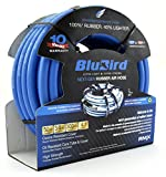 BLUBIRD BLBRD10050 The Lightest and Strongest Rubber Air Hose 3/8'' x 50' 300PSI w/ 10 Year Warranty