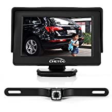 "Backup Camera and Monitor Kits, High Definition 12 LEDs Night Vision Waterproof Reversing Backup Camera + 4.3"" TFT LCD Rear View Monitor"