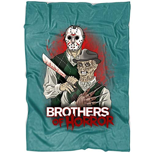 ROEBAGS Freddy and Jason Walk-Through at Halloween Horror Nights Soft Fleece Throw Blanket, Friday The 13th Halloween Blanket for Bed and Couch (Medium Fleece Blanket (60