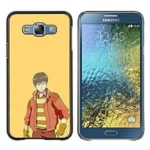 Páramos- Metal de aluminio y de plástico duro Caja del teléfono - Negro - Samsung Galaxy E7 / SM-E700
