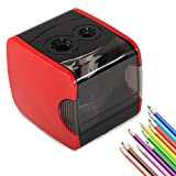 DCLYSI Electric Pencil Sharpener,Heavy Duty Automatic Pencil Sharpeners Electric USB or Battery Operated Small Pencil Sharpener for Kids, Artist, Student and Office