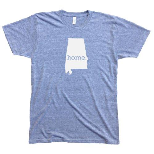 Homeland Tees Men's Alabama Home State T-Shirt XX-Large Gray/White ()