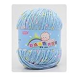 knitting yarns ann hood - Fang Sky Yarn Crochet Knitting Yarn Point Silk Protein Baby Knit Wool Yarn 50g (6#)