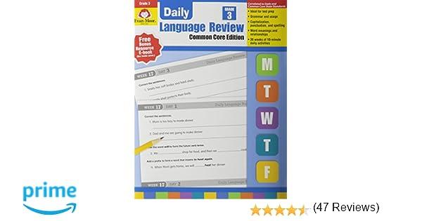 Daily Language Review, Grade 3: Evan Moor: 0023472005816: Amazon ...