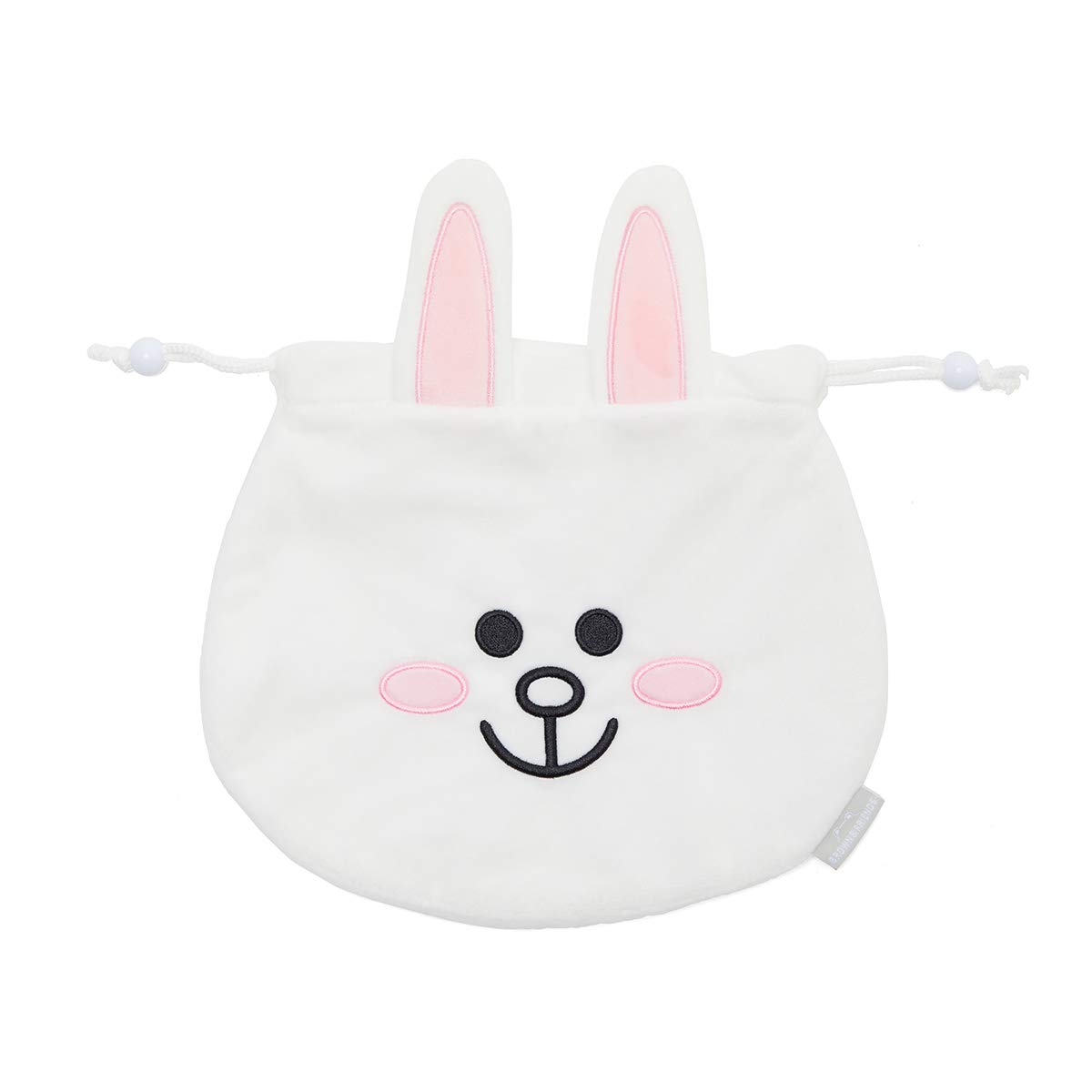 LINE FRIENDS Drawstring Pouch - CONY Character String Jewelry Bag, White