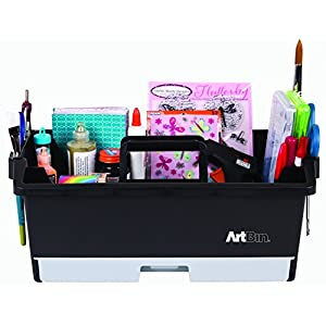 ArtBin 6963AG Art and Craft Supply Caddy, 16.625 in. x 10.25 in. x 6.975 in., Arts and Craft Supply Storage with Drawers and Tool Rack Slots, Portable