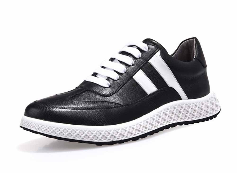 GLSHI Männer Freizeitschuhe 2018 Neue Weiße Schuhe Mode Leder Wanderschuhe Outdoor Tragbare Fitness Schuhe