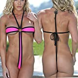 2018 Trim Micro Bikini Set Beach Wild Swimming Lingeries Costumes Sex Teeny Swimwear Female Extreme Women G-String Swimsuit Color 17167 Size One Size
