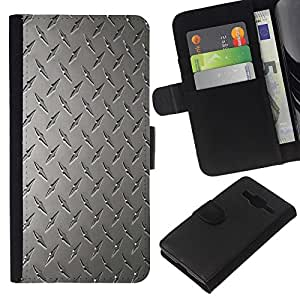 All Phone Most Case / Oferta Especial Cáscara Funda de cuero Monedero Cubierta de proteccion Caso / Wallet Case for Samsung Galaxy Core Prime // Wall Art Design Grey Classic Interior Pattern