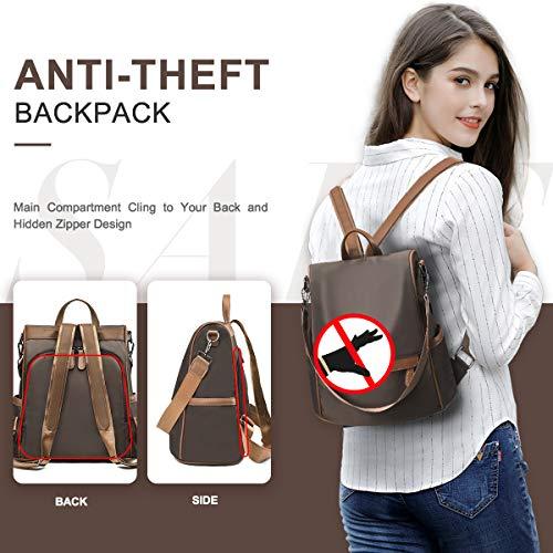 Charmore Women Travel Backpack Anti Theft Rucksack Nylon Waterproof Casual Daypacks Lightweight Backpack