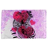 Zebra Lovers Valentines Hearts All Over Hand Towel Multi Standard One Size