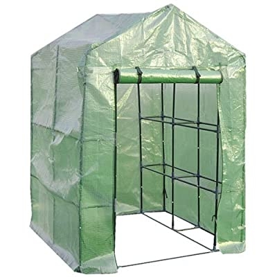 Giantex Outdoor Portable Greenhouse Multi Tier Shelves Stands Small Shelving Green House for Herb and Flower