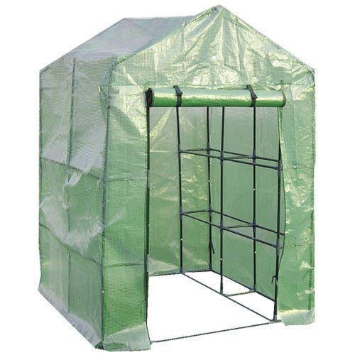 Giantex Portable Mini Walk In Outdoor 2 Tier 8 Shelves Greenhouse