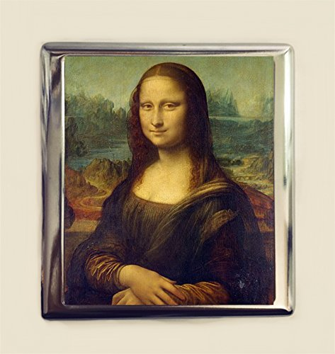 Mona Lisa Cigarette Case Business Card ID Holder Wallet Leonardo Da Vinci Fine Art ()