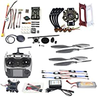 QWinOut DIY FPV Drone Quadcopter 4-axle Aircraft Kit :F450 450 Frame + PXI PX4 Flight Control + 920KV Motor +GPS + AT9 Transmitter + Gimbal Camera Mount