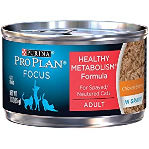 Purina Pro Plan FOCUS Healthy Metabolism Formula Adult Wet Cat Food - (24) 3 oz. Cans 72