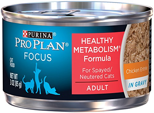 Purina Pro Plan Focus Healthy Metabolism Formula Chicken Entree In Gravy Adult Wet Cat Food - (24) 3 Oz. Pull-Top Cans