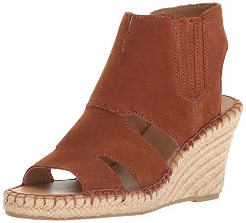 Franco Sarto Women's Nola Espadrille Wedge Sandal, Whiskey, 9 M US (Sheepskin Wedge Womens Suede)