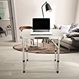 Aluminum Small Folding Camping Table, Lightweight Picnic Outdoor Indoor Table, Carrying Handle Included
