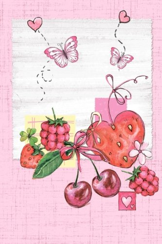 "Butterfly and Fruit 6 x 9 Narrow Ruled Lined Journal: 132 Pages, Softcover Notebook, 0.25"" Lined Paper, No Margins PDF"