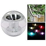 OFKPO Solar Powered Floating Ball LED 7 Colors Changing Globe Waterproof Light for Pond Pool Path Lands Lakes