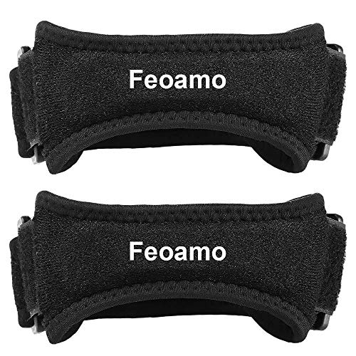 FEOAMO Knee Brace Patella Strap Support for Sports Running Hiking Soccer Tennis Basketball Tendonitis Volleyball and Squats, 2 Pack Knee Pain Relief Band