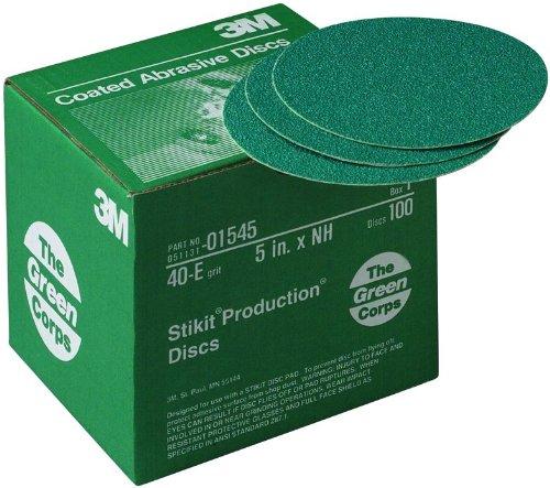 3M 01545 Green Corps Stikit 5'' 40E Grit Production Disc