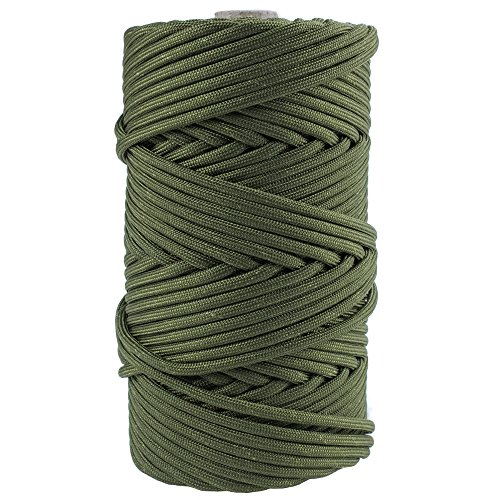 GOLBERG Mil-C-5040H Mil-Spec Type III (7 Strand) and Type IV (11 Strand) Paracord - (750Lb, 100 Feet, Camo Green)