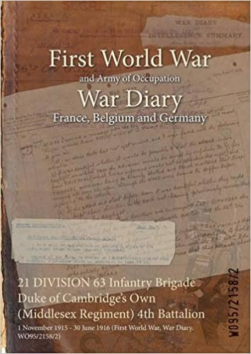 Book 21 DIVISION 63 Infantry Brigade Duke of Cambridge's Own (Middlesex Regiment) 4th Battalion: 1 November 1915 - 30 June 1916 (First World War, War Diary, WO95/2158/2)