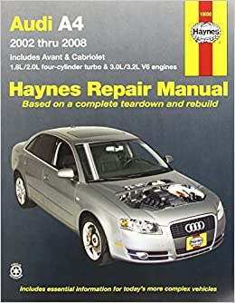 Audi A4: 2002 thru 2008 Haynes Repair Manual by Max Haynes 2011-03-01: Amazon.es: Max Haynes: Libros