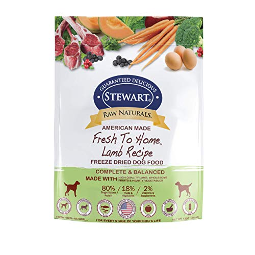 - Raw Naturals by Stewart Freeze Dried Dog Food in Resealable Pouch, 12-Ounce, Lamb