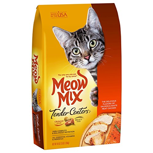 Meow Mix Tender Centers Salmon And Chicken Dry Cat Food, 3 Lb (Pack Of 4)
