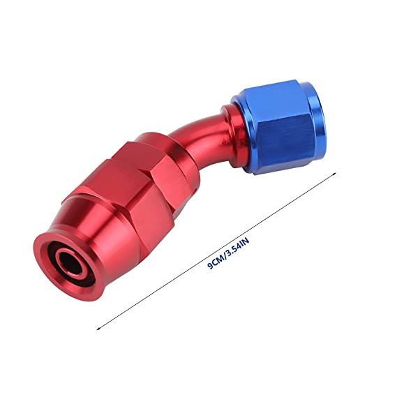 45/° KIMISS AN10 Ajuste de fin de Manguera de Combustible de gas de Aceite para la Manguera de Teflon