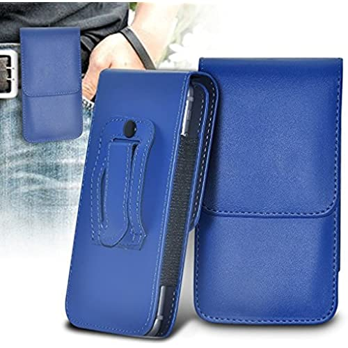 ONX3 (Blue) Samsung Galaxy S8 Case Premium Vertical Faux Leather Belt Holster Pouch Cover Sales