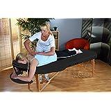 Table de Massage Pro Luxe 2S, pliante Confort, ovale, noir