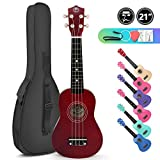 Soprano Basswood Ukulele 21inch Starter Kit for Beginner with Gig Bag, Kids Ukulele Uke Hawaii Mini Guitar for Kids Adults and Beginners: more info