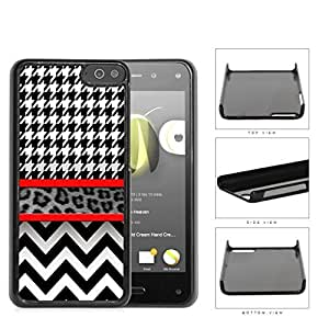 Black And White Hounsdtooth Animal Print Chevron Hard Plastic Snap On Cell Phone Case Amazon Fire