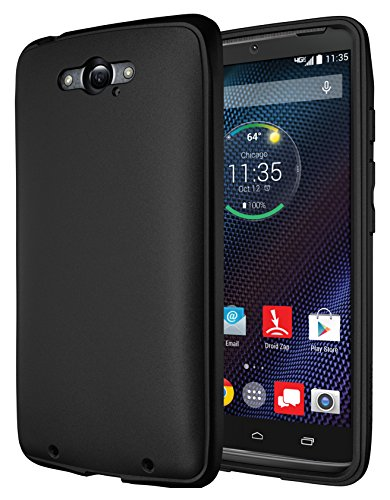 Droid Turbo Ballistic Nylon Case, Diztronic Full Matte TPU Case for Motorola Droid Turbo (Fits Ballistic Nylon Version Only) - Matte Black - (TBN-FM-BLK)