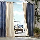 Gazebo Curtains Outdoor decor Gazebo Stripe Indoor Outdoor Window Panels, 50 by 84, Blue