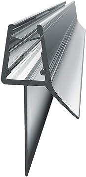 WELMAX - Tira de goma de plástico para mampara de ducha de 4 a 6 mm de cristal | Aleta recta (con burbuja) para mamparas, puertas o paneles (90 cm): Amazon.es: Bricolaje y herramientas