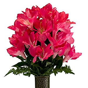 Beauty Amaryllis, Artificial Bouquet, featuring the Stay-In-The-Vase Design(c) Flower Holder (MD2079) 42