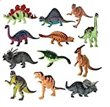 Large Dynamite Dinosaurs - 6'' To 8'' - Pack Of 12 – Assorted Styles And Colors Dinosaur Figures Playset - For Kids Great Party Favors, Bag Stuffers, Fun, Toy, Gift, Prize, Piñata Fillers - By Kidsco